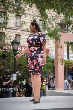 8845ad1ef52 JCPenney presents a fashion show of clothing for plus sized women created  by designer Ashley Nell Tipton in Greeley Square in New York Tipton is  partnering ...