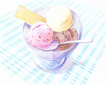 アイスクリーム イラスト バニラアイスの画像素材 食べ物飲み物