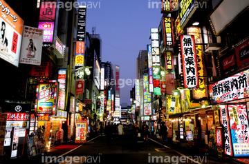 町並建築 リゾート田園 ネオン街日本の画像素材 写真素材