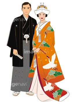 イラスト 結婚式 着物】(DAJ digital images)の画像素材