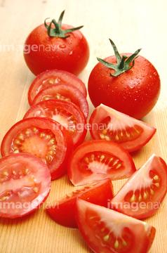 トマト 断面 輪切り 写真 の画像素材 健康食品 美容 健康の写真素材ならイメージナビ