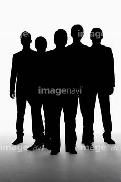5人 シルエットの画像素材 構図人物の写真素材ならイメージナビ
