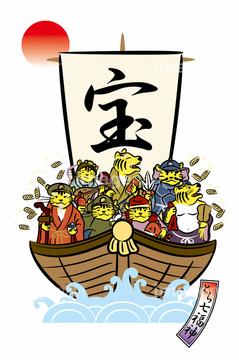 七福神 宝船の画像素材 行事祝い事用品オブジェクトの写真素材