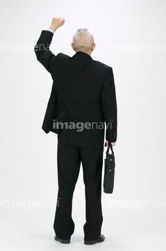 男 スーツ 後ろ姿 手 片手の画像素材 ビジネスシーンビジネスの