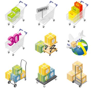 ショッピングカート イラスト 多種の画像素材 イラストcgの