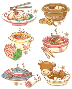季節のイラスト 冬の食べ物イラストの画像素材 食べ物