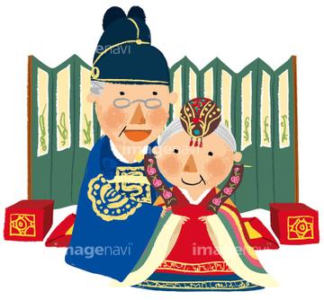 中国人 2人 夫婦イラストの画像素材 ライフスタイルイラスト