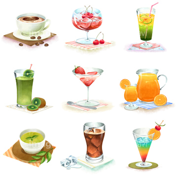 Fooddrinkイラストコレクション スイーツドリンクの画像素材