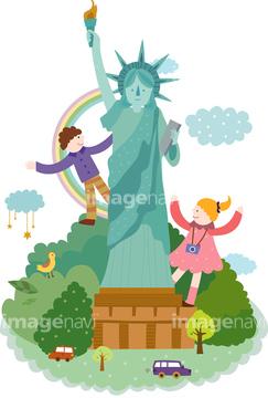 自由の女神 イラスト ニューヨークの自由の女神の画像素材 自然