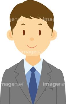 スーツ 男性 リクルートスーツイラストの画像素材 人物