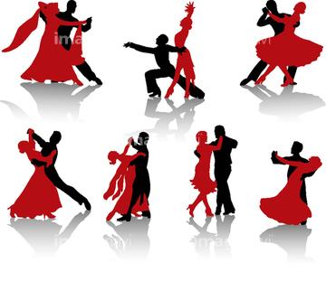 ダンス シルエット 社交ダンスの画像素材 人物イラストcgの写真