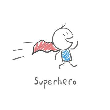 アメコミ スーパーマンロイヤリティフリーイラストの画像素材