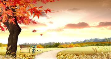季節のイラスト 秋の風景イラストの画像素材 花植物