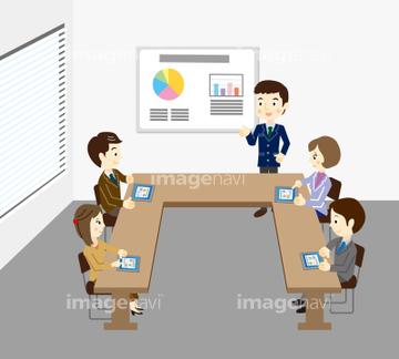 チームミーティングの画像素材 ライフスタイルイラストcgの写真