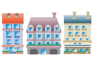 ヨーロッパ街並みの画像素材 エクステリア建具の写真素材なら