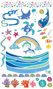 サメ イラスト ジンベエザメの画像素材 生き物イラストcgの