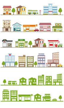 家 イラスト シルエット 共同住宅の画像素材 住宅インテリアの