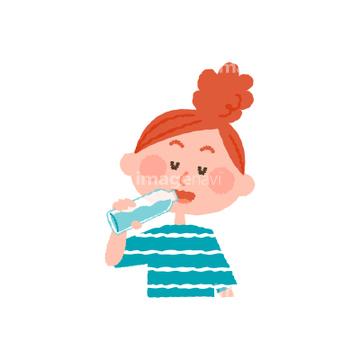 健康 家族 水分補給イラストの画像素材 生き物イラストcgの