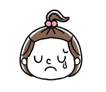 悲しい表情の画像素材 人物イラストcgの写真素材ならイメージナビ