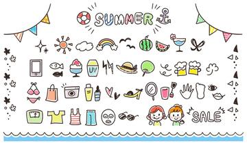 季節のイラスト 夏の人物イラストの画像素材 季節イベント