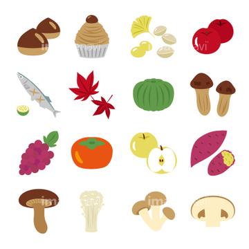 季節のイラスト 秋の食べ物イラストの画像素材 ライフ