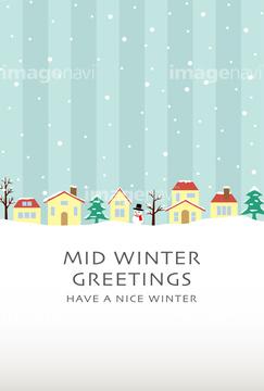 季節のイラスト 冬の風景イラストの画像素材 季節イベント