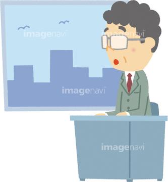 窓際族の画像素材 写真素材ならイメージナビ