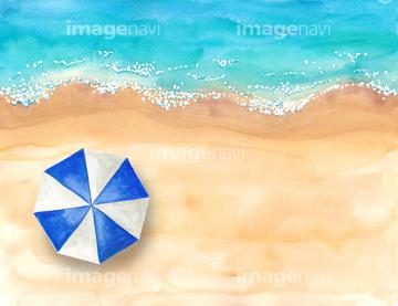波打ち際 俯瞰 青色の画像素材 テーマイラストcgの写真素材なら