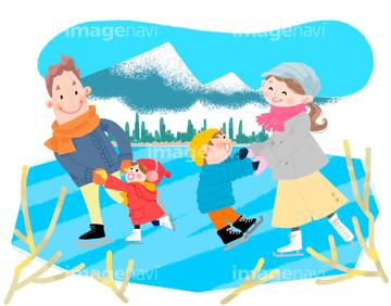 冬のイメージ特集 冬のイラストイラストのみの画像素材