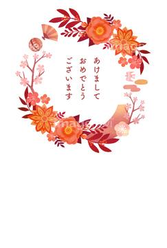 正月飾りの画像素材 年賀グリーティングの写真素材ならイメージナビ