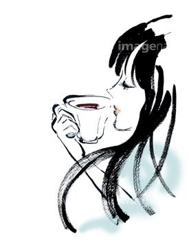 女性 横顔 イラスト 綺麗の画像素材 人物イラストcgのイラスト