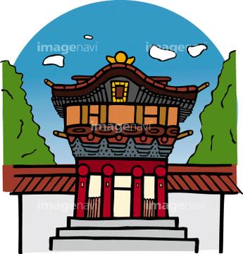神社 イラスト 日光東照宮の画像素材 自然風景イラストcgの