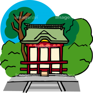 神社 イラスト 鶴岡八幡宮の画像素材 日本国地域の
