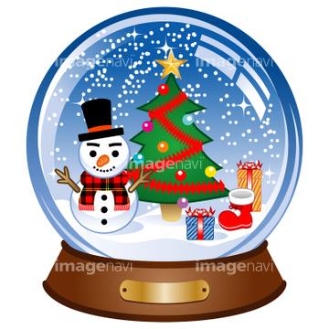 クリスマス スノードーム 玩具の画像素材 自然風景イラストcg
