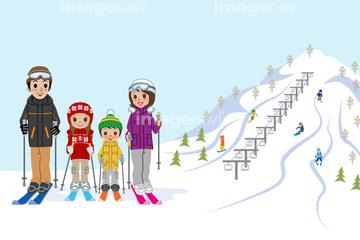 スキー場 イラスト 陽気の画像素材 ライフスタイルイラストcgの