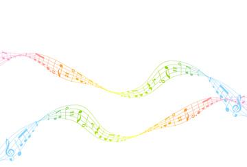 イラスト 虹 音符の画像素材 自然風景イラストcgのイラスト