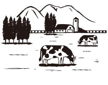 乳牛 イラスト かわいいの画像素材 テーマイラストcgのイラスト