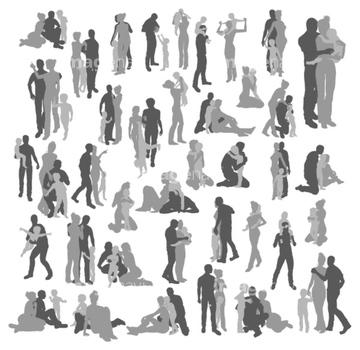 カップル 抱き合う 2人 シルエット の画像素材 構図 人物の写真素材ならイメージナビ
