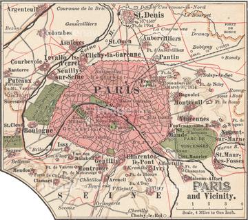地図衛星写真 古地図 世界の古地図ヨーロッパ パリの画像素材