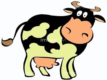 乳牛 イラスト イラスト絵画の画像素材 交通イメージ乗り物