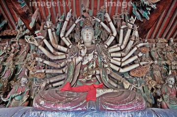 千手観音菩薩像の画像素材 日本国地域の写真素材ならイメージナビ
