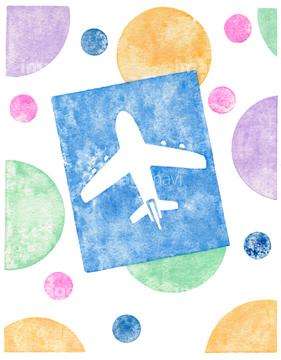 飛行機雲の画像素材 人物イラストcgの写真素材ならイメージナビ