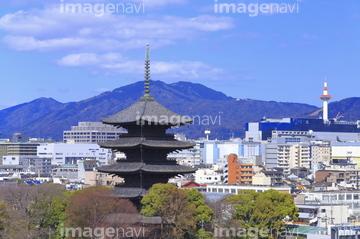 東寺五重塔の画像素材 公園文化財町並建築の写真素材なら