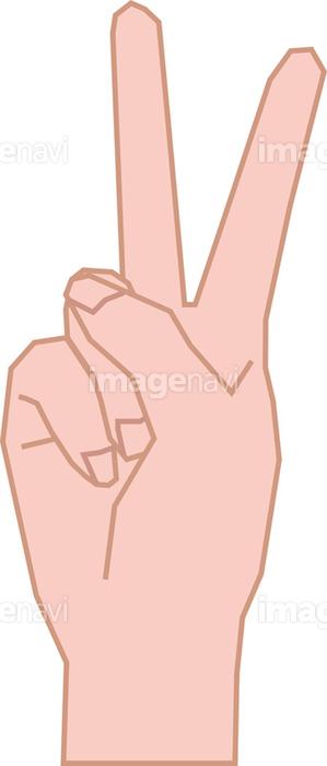 ピースサインの女性の右手の画像素材10044200 イラスト素材なら