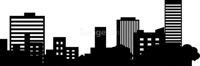 都会のビル群のシルエットの画像素材10044417 イラスト素材なら