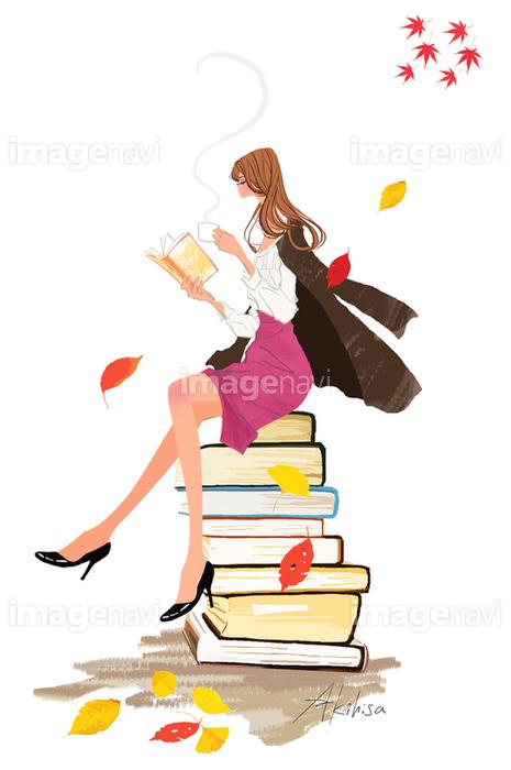 本を読む女の子の画像素材10140359 イラスト素材ならイメージナビ
