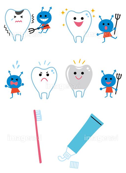 歯と虫歯菌歯磨きアイコンの画像素材10146806 イラスト素材なら