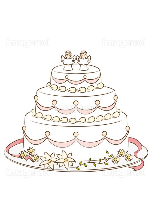 ウェディングケーキ の画像素材 イラスト素材ならイメージナビ