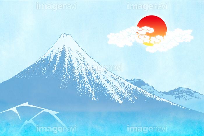 富士山と朝日イメージ イラストの画像素材11608344 イラスト素材