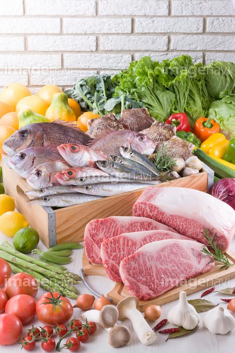 生鮮食品集合イメージ】の画像素材(13805240) | 写真素材ならイメージナビ